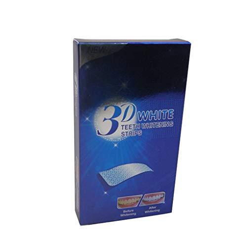 Kongnijiwa 7 Pares/Set Dientes Tiras de blanqueamiento de Dientes 3D Ultra Gel blanqueador blanquear los Dientes Oral Care Dental Higiene del Producto