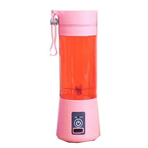 Licuadora Inalambrica Portatil Potente Batidora Electrica Batidos Proteinas Gimnasio Deporte Musculacion USB YEKLACK02 (rosa)