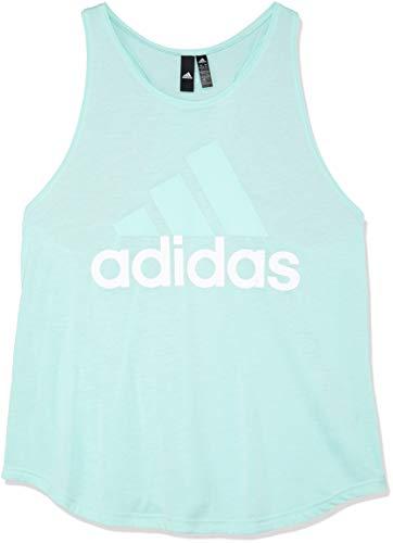 adidas ESS Lin Lo Camiseta, Mujer, Verde/Blanco (Clear Mint), M