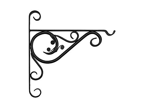 Garden Pride Forged Hanging Basket Bracket – Made of heavy duty forged steel (18' Bracket)