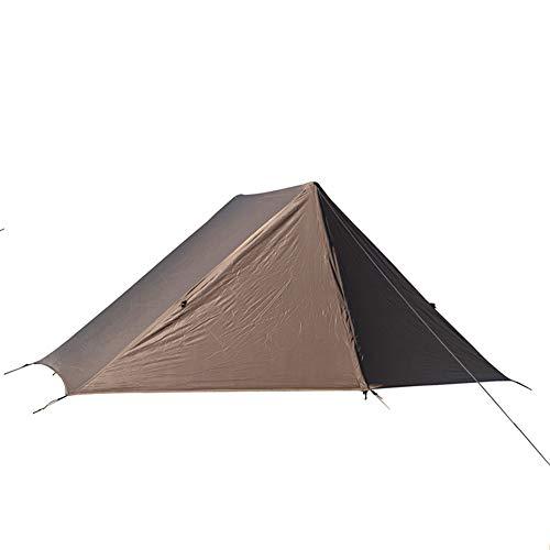Profession - Tienda de campaña al aire libre, 2 carpas de camping para hombre de fácil instalación, impermeable, refugio para senderismo, tienda de campaña de 4 temporadas, color marrón