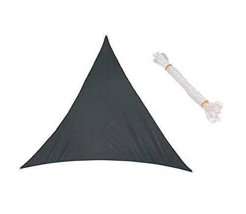 'N/A' Toldo Vela Triangular de jardín, toldo de Sombra Impermeable para terraza con protección UV 95%, con 3 Cuerdas Libres(Size:6×6×6m,Color:Gris)