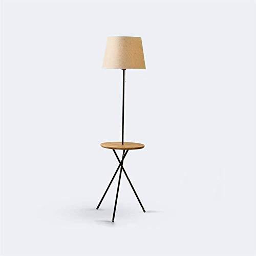 Luces de Piso LED de Tela, Madera Maciza, nórdico, Moderno, Luces de Piso Simples para estantes de Sala de Estar, sofá, Mesa de Centro, Bombilla incluida, lámpara