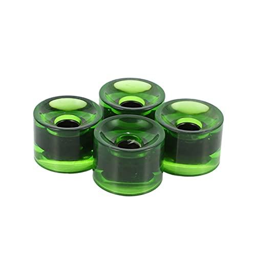 CAIFEIYU Nuevo 4 UNIDS 70x51mm Skateboard Longboard Wheels Cruiser Rueda Accesorio Rodillo Rodillo (Color : Green)