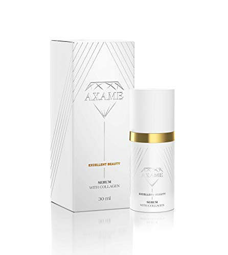 Axame - Serum Premium Feuchtigkeitsspendendes Glättendes und Straffendes Hypoallergenes Anti-Aging-Serum mit Kollagen 30ml