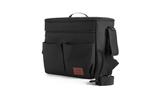 8safe Organizador Maternal para Almacenamiento de Accesorios de Bebe | Muy Amplio | MultiBolsillos | Para Llevar a Hombros, como mochila o maleta | Bolsillo Especial 8therm para Biberon