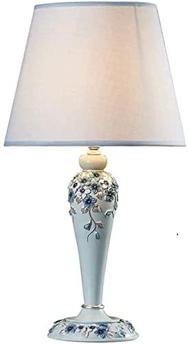 JLKDF Lámpara de cabecera Lámpara de Mesa LED de cabecera de Resina Moderna Interruptor de Control Remoto Tallado a Mano Luz de Mesa de Sala de Estar Lámparas de Mesa románticas cálidas