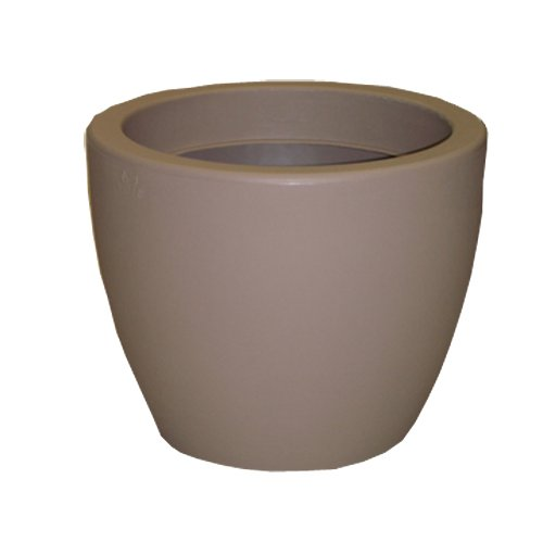 Chapelu CLSBM40C78 - Gallia, Vaso da Fiori in polietilene 33 cm, Colore: Talpa