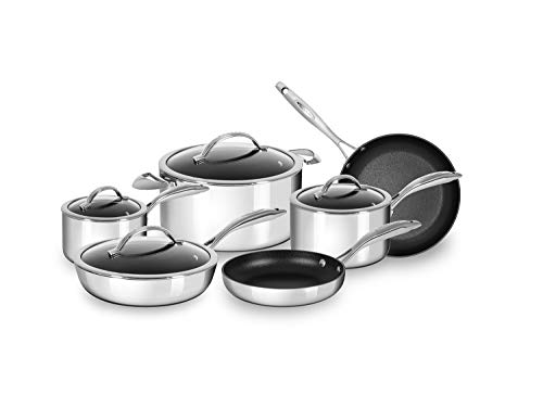 Scanpan Stainless Steel HaptIQ Aluminum 10-Piece Cookware Set, 2.3