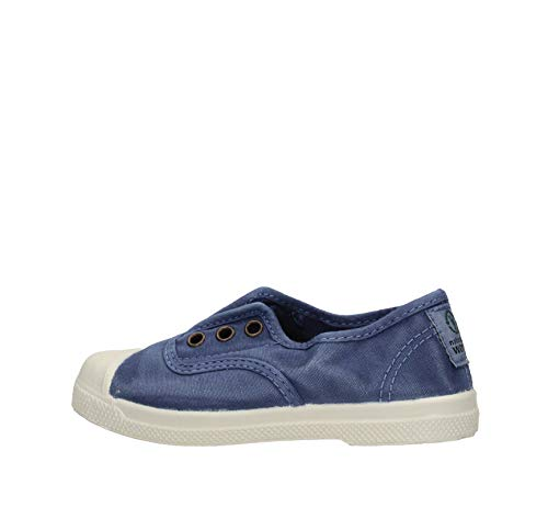 Natural World Chaussures en Coton avec Fond de Caoutchouc Unisex 470E677 Bleu Taille: 21