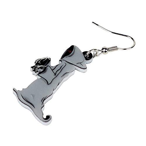 XUBB Acryl grau Ohrringe Tropfen Cartoon Kostüme Schmuck für Frauen Mädchen Teenager Geschenk Original