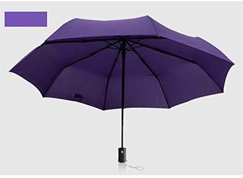 Travel paraplu stormbestendig robuust volautomatisch drievoudig inklapbare parasol paraplu