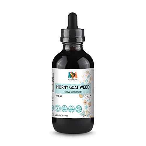 Horny Goat Weed Tincture - Organic Epimedium Grandiflorum, Barrenwort Liquid Herbal Supplement - May Help Support Immune System, Boost Vigor, Energy, Blood Flow - Vegan, No Alcohol, 4fl oz