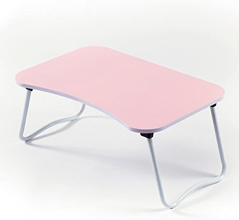Laptop Tables College Students Simple Dorm beds Desk Folding Mini Mini Tables,Fruit Pink 60  40  28
