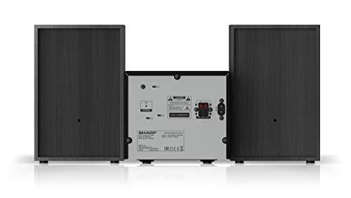 SHARP XL-B510 (BK) Micro Sound System, UKW Radio, 40W, Bluetooth und USB Playback, CD-MP3, Schwarz