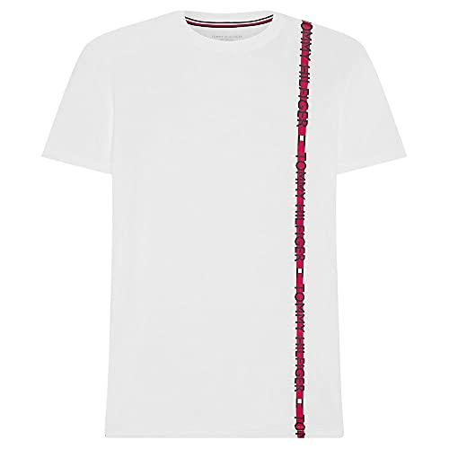 Tommy Hilfiger - Camiseta con logotipo de rayas para hombre, Azul oscuro,...