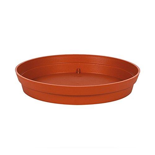 EDA Plastiques - Pot de Fleur - Soucoupe Ø15 cm pour Pot de Fleur Toscane Ø20 cm - Potiron