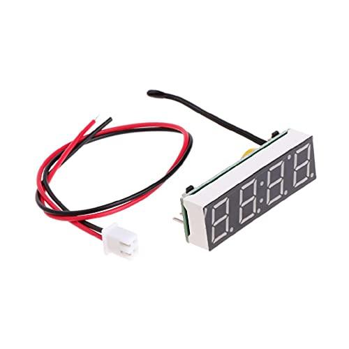 Reloj digital LED para coche, electrónico, tiempo, temperatura, voltaje, 3 en 1 metro, 12 V, 5 – 20 V, para bricolaje