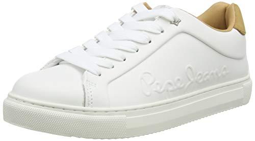 Pepe Jeans London Adams Logo20, Zapatillas para Mujer, 800white, 39 EU
