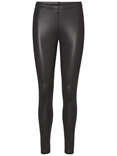 VERO MODA Damen VMROCK ON Shiny NOOS Leggings, Schwarz (Black Beauty), 38 (Herstellergröße:M)
