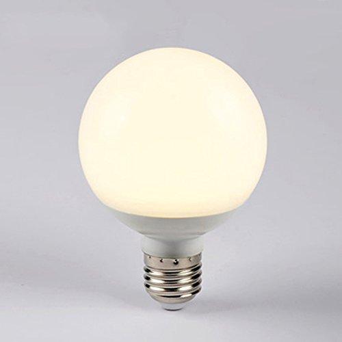 ASL Llevó la leche blanca del dragón rebordea la burbuja, boca del tornillo E27 Las bombillas ahorro de energía estupendas brillantes calientan la luz blanca ligera 5-9W bulbo 8 * 11CM (regalo png) ( Color : Blanco cálido , Tamaño : E27-9w )