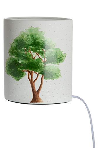 GILDE Lámpara con forma de árbol Ellipse de porcelana con patrón de agujeros Prickellock, altura de 20 cm