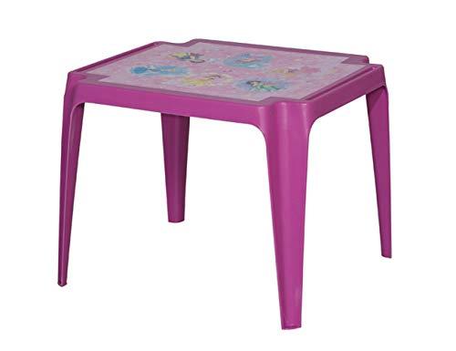 Progarden 943 Tavolo Baby 'Princess - Mesa Infantil (plástico, 50 x 55 x 45 cm), Color Rosa