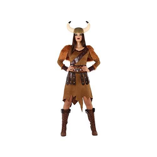 Atosa-61403 Atosa-61403-Disfraz Vikinga-Adulto Mujer, Color marrón, XL (61403 , color/modelo surtido