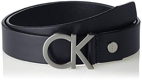 Calvin Klein CK Adj. Buckle Belt Cintura, Blu (Navy 411), 6 (Taglia Produttore: 90) Uomo