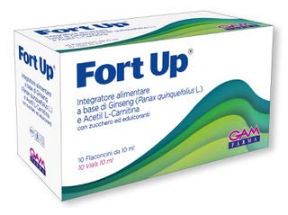FORT UP® Integratore - Ricostituente, antifatica, anti stanchezza, ottimo dopo periodi influenzali e in convalescenza. A base di Ginseng e Acetilcarnitina