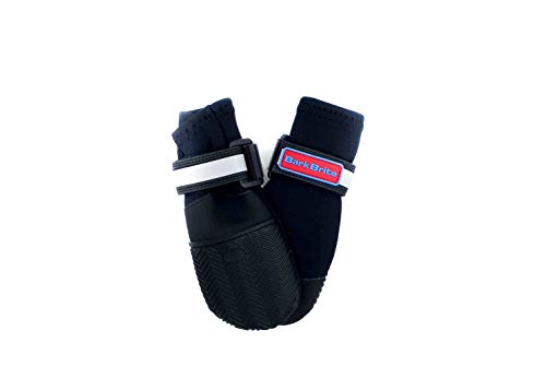 All Weather Neoprene Paw Protector Dog Boots with Reflective Straps in 5 Sizes! (Sm (2.5x2.75 in.)) Travel Zipper Case Included!