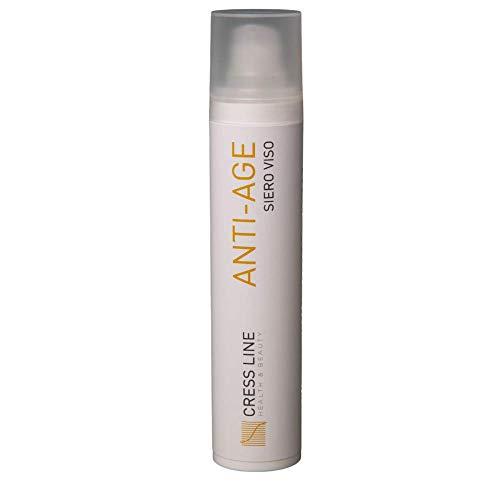 Cress Line - Crema viso Anti-age naturale rimedi contro età e rughe - 50ml - Acido ialuronico ed antiossidanti naturali presenti nell'estratto di Vitis Vinifera