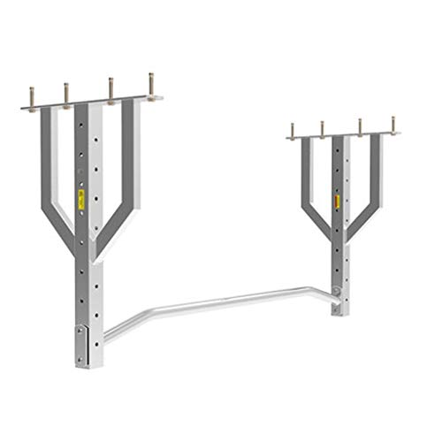 LDDLDG Pull Up Chin Up Bar Pull-up Bar, dubbele Plafond Pull-up Muur Mount, volwassen Indoor Fitness Staal Apparatuur Up Deur Bar