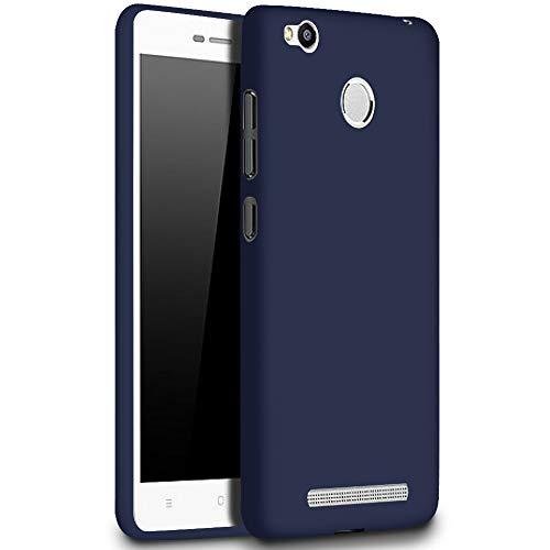 United Case Funda Blanda para Xiaomi Redmi 3s   TPU   en Azul Marino   Resistente a Golpes