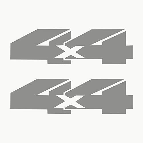 Autodomy Pegatinas 4x4 Todoterreno Off Road Pack 2 Unidades para Coche 1 (Plata)