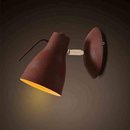 JAOSY Lámpara de Pared Lámparas Loft Industrial Wind Retro Lámpara de Pared Dormitorio Bar Single Head Hierro Forjado Personalidad Lámpara de Pared de cabecera Lámpara 1 (Amarillo)
