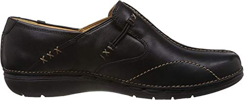 Clarks Un Loop, Mocasines Mujer, Negro Black Leather