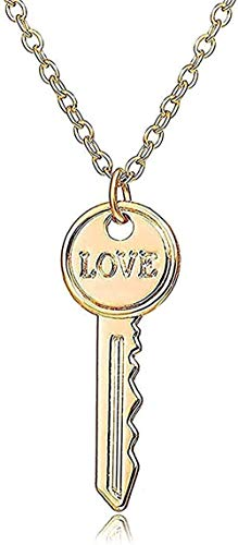 SHIERSHIYI Necklace Fashion Layers Chains Hip Hop Punk Stainless Steel Padlock Necklace Men Rock Heart Lock with Keys Necklaces for Women Men Jewelry