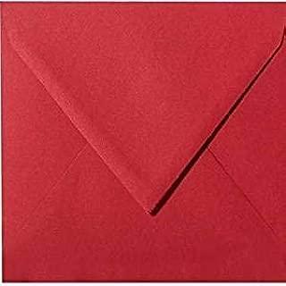 qualit/à pesante/ Buste per lettere quadrate//rosso pizzo portafoglio////in della Serie colore felice di Neuser nassklebung /molto stabile/ 158/x 158/mm /110/G//m/² 50 Umschl/äge rosso