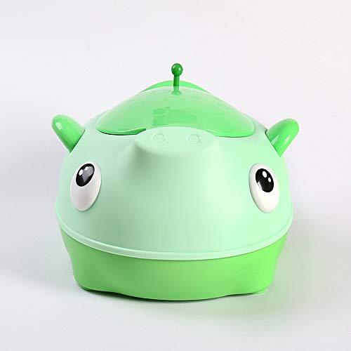 HKANG Toilette WC per Bambini Sedile Bambino Piccolo Allenatore Vasino Sedile del Water Formazione Vasino Design Portatile,Green