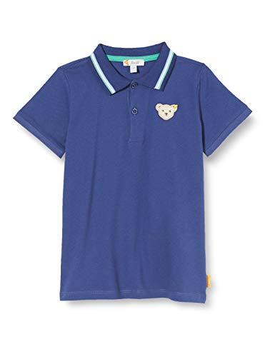 Steiff Poloshirt Camiseta, Deep Cobalt, 86 para Niños
