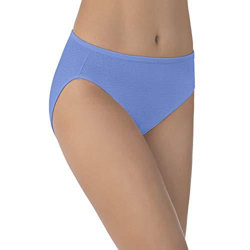 Vanity Fair Women's Illumination Hi Cut Panties (Regular & Plus Size), Mockingbird, 8