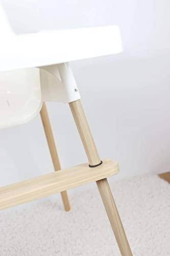 Reposapiés para trona Antilop de IKEA Ajustable, Lavable, Hecho en Madera/Pino