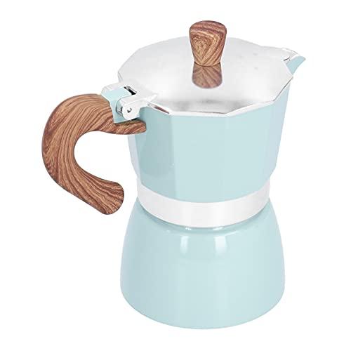 Moka Pot, ośmiokątny dzbanek do kawy Łatwy w obsłudze ośmiokątny ekspres do kawy do biura dla miłośników kawy(Modele Seiko jezioro niebieskie)