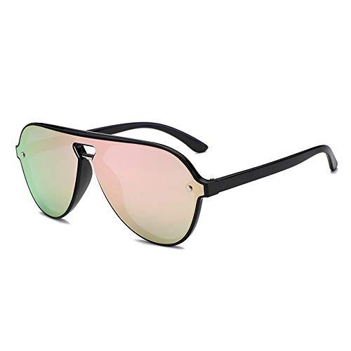SWNN Sunglasses Azul Negro Rosa Gris UV400 Gafas Personalidad Masculina Ion Negativo Gafas De Sol Polarizadas HD Gafas De Sol (Color : Pink)