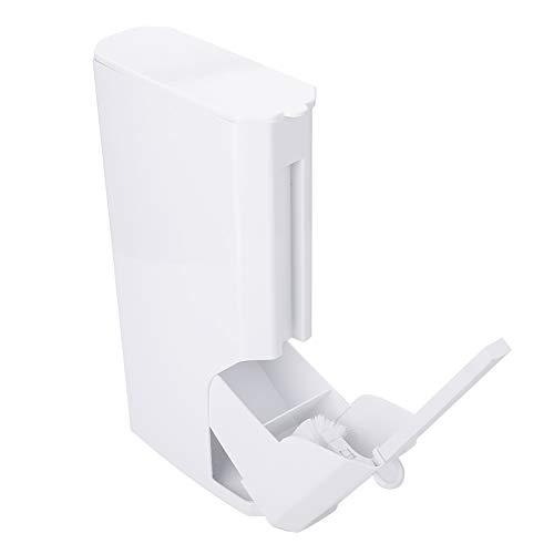 Zerone Lata del Tenedor del Cepillo de Inodoro, Almacenamiento Integrado Cepillo de Inodoro Bote de Basura Cepillo de baño para baño