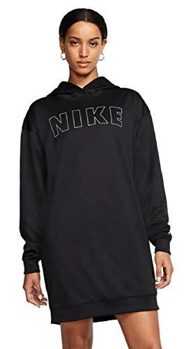 Nike Damen Damen Kleider Air Drepk Kleider, Black/White/Ice Silver, S, CJ3112