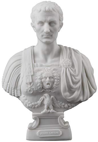 Julius Caesar Büste Statue Figur Weiß