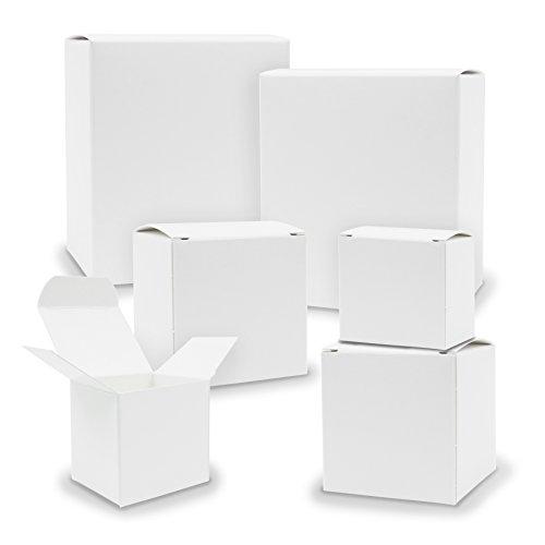 itenga Schachteln V1 24x Quader Würfel gemischt WEISS Boxen zum Basteln z.B. für Adventskalender Gastgeschenke
