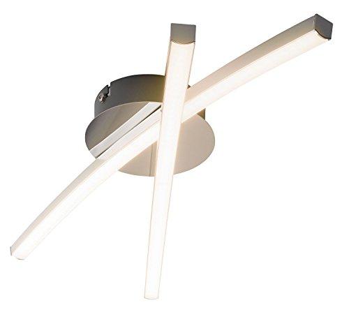 LED-Deckenleuchte Deckenlampe Wohnzimmerlampe | Metall | Chromfarben | inkl. Leuchtmittel